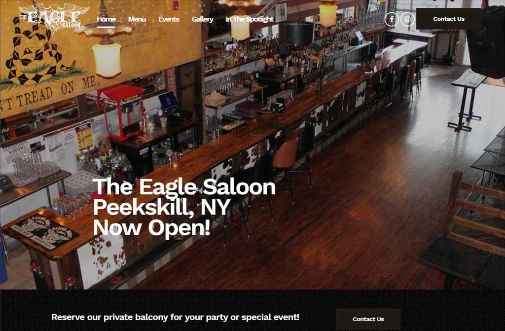 Eagle Saloon Website - Safe Cloud Studios Safe Cloud Studios